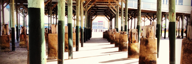 Under Murdocks Beach Pier