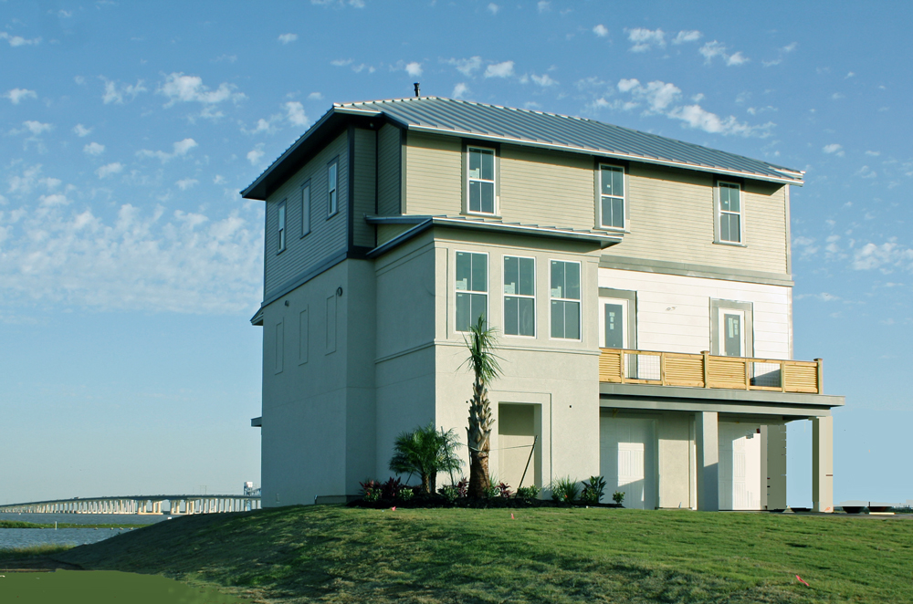 NEW CONSTRUCTION:  4 Bed/4 Bath Bay Home on large waterfront lot with Bay access, in gated community on Galveston Island.
