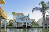 STUNNING CANAL FRONT HOME! ** TERRAMAR BEACH at 22810 Vida Galveston TX 77550  for $430,000